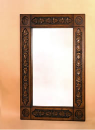 OBF4 Heavily Carved  Frame Mirror