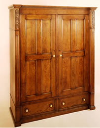 OP5 8 Panel Wardrobe 2-Door 2-Drawer