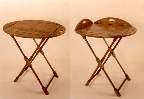 M1 Mahogany Butler's Tray & Stand
