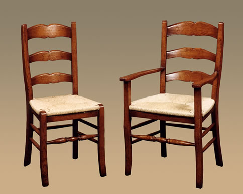 OC24 French Country Chairs Side Arm