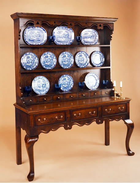 095H Open High Dresser with Cabriole Legs
