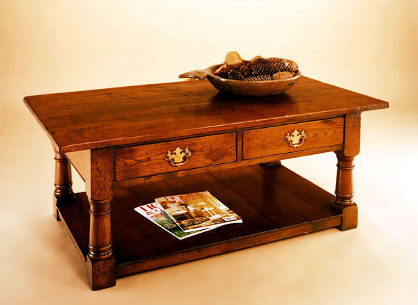 SOF5D 2-Drawer Pot Board Coffee Table