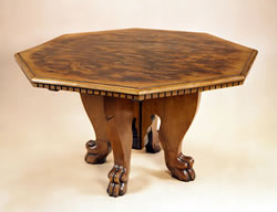 OT31 Octagonal Italian  Walnut Centre Table